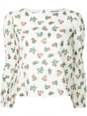 Блузка с цветочным принтом Molly Goddard. Цвет: белый