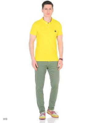 Футболка-поло United Colors of Benetton. Цвет: желтый