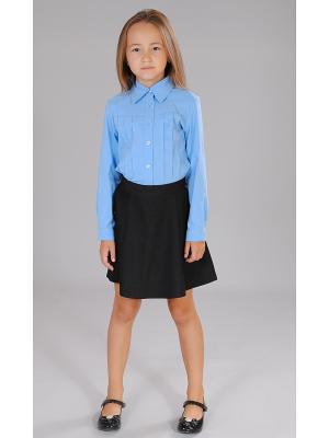 Блузка Милашка Сьюзи. Цвет: голубой