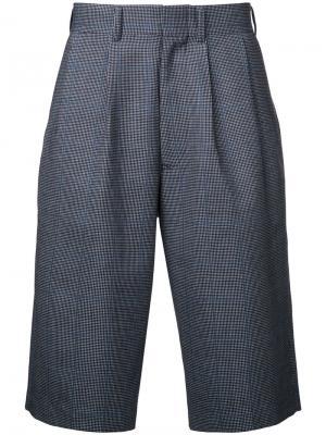 Классические шорты в клетку Junya Watanabe Comme Des Garçons Man. Цвет: синий