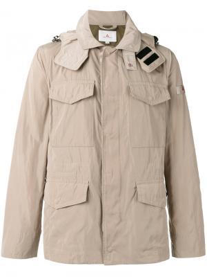 Куртка с капюшоном и накладными карманами Peuterey. Цвет: телесный