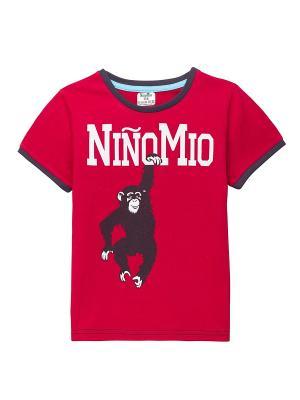 Футболка NinoMio. Цвет: бордовый