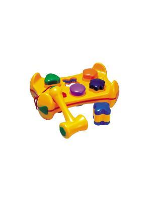 Игрушка Молоток с геометрическими фигурами Tolo. Цвет: желтый