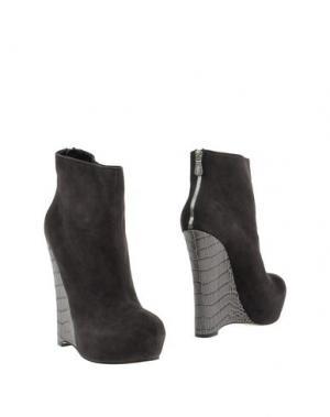 Полусапоги и высокие ботинки ALEJANDRO INGELMO. Цвет: стальной серый