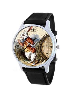 Дизайнерские часы White Rabbit Tina Bolotina. Цвет: черный, бордовый, серо-коричневый