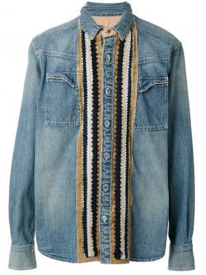 Джинсовая рубашка Sacai. Цвет: синий