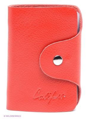 Визитница Calipso. Цвет: красный