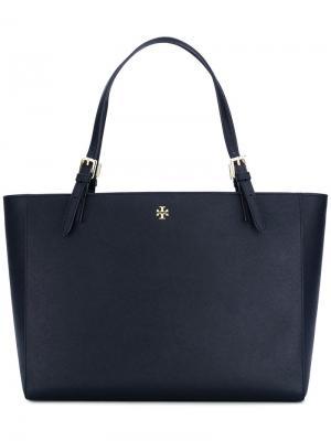 Большая сумка-тоут с двумя ручками Tory Burch. Цвет: синий