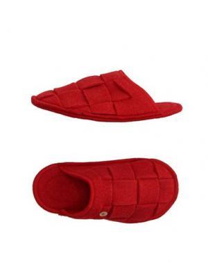 Домашние туфли RENUDO. Цвет: красный