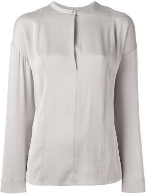 Рубашка с воротником-стойка Vince. Цвет: серый