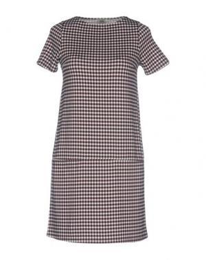 Короткое платье SIYU. Цвет: коричневый