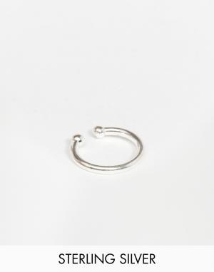 Kingsley Ryan Серебряное кольцо для носа. Цвет: серебряный