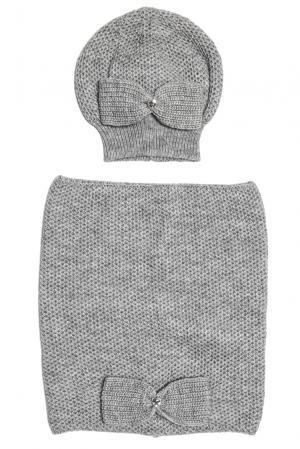 Комплект (шапка и снуд) 153130 Sos Chic. Цвет: серый