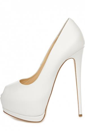 Кожаные туфли Sharon Giuseppe Zanotti Design. Цвет: белый