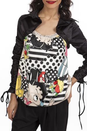 Блуза Miss Pink. Цвет: черный