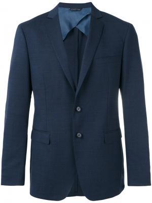 Пиджак с карманами клапанами Tonello. Цвет: синий