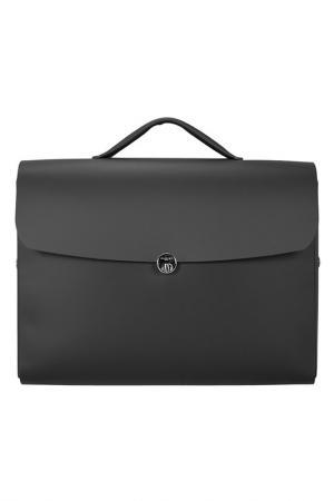 Портфель ALMINI MILANO. Цвет: черный