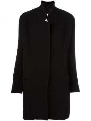 Пальто с воротником-стойкой Ter Et Bantine. Цвет: чёрный