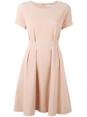Платье со складками Harris Wharf London. Цвет: розовый и фиолетовый