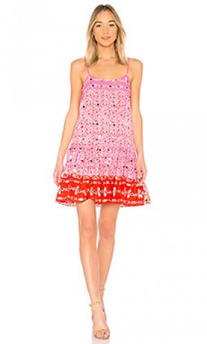 Мини платье juliet dunn. Цвет: розовый