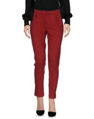 Повседневные брюки CAPOBIANCO. Цвет: кирпично-красный
