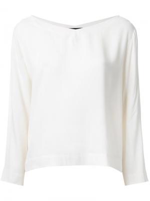 Блузка c V-образным вырезом Roberto Collina. Цвет: белый