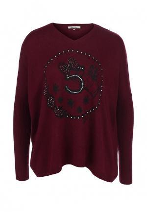 Пуловер Many Why. Цвет: бордовый