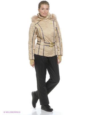 Куртка Stayer. Цвет: бежевый, фиолетовый