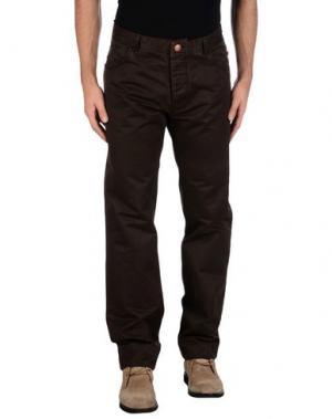 Повседневные брюки HISTORIC RESEARCH. Цвет: темно-коричневый