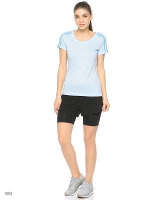 Шорты Two-in-One Gym Shorts Adidas. Цвет: черный