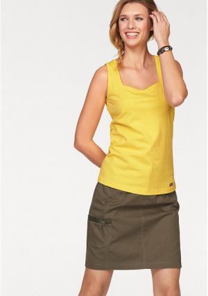 Топ CHEER. Цвет: желтый + белый, розовый+белый, темно-синий + белый, цвет баклажана+белый