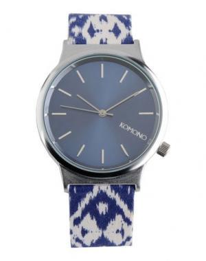 Наручные часы KOMONO. Цвет: синий