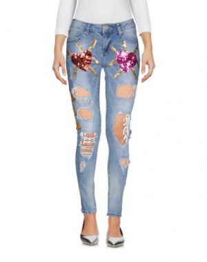 Джинсовые брюки ANGELA MELE MILANO. Цвет: синий