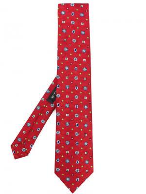 Галстук с вышивкой Etro. Цвет: красный