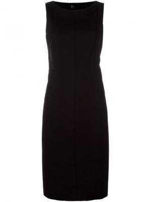 Платье миди без рукавов Akris Punto. Цвет: чёрный