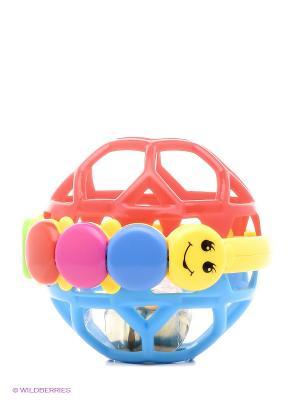 Звуковой шарик погремушка Toy Target. Цвет: красный, синий