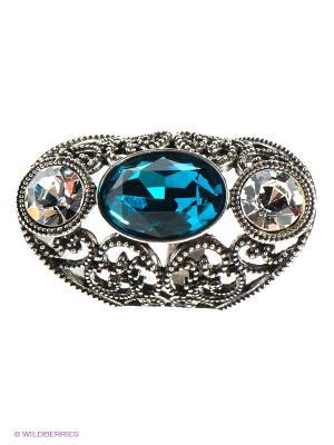 Кольцо Bijoux Land. Цвет: серебристый, прозрачный, синий