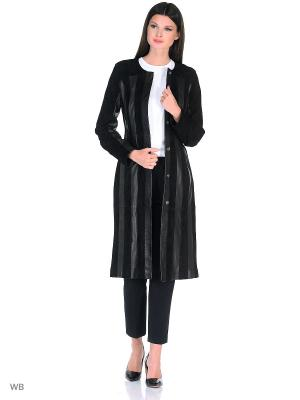 Замшевое пальто MONDIAL. Цвет: черный
