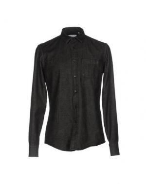 Джинсовая рубашка DONDUP. Цвет: стальной серый