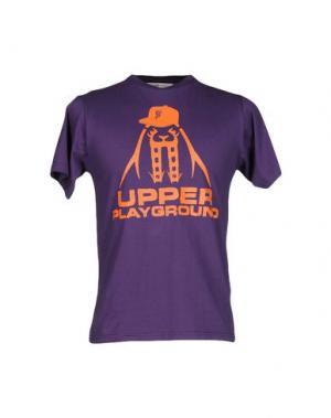 Футболка UPPER PLAYGROUND. Цвет: фиолетовый