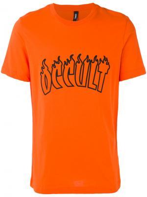 Футболка flames Omc. Цвет: жёлтый и оранжевый