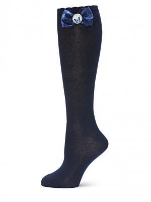 Гольфы LARMINI. Цвет: темно-синий