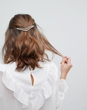 Orelia Заколка для волос. Цвет: золотой