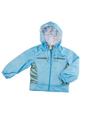 Куртка (Ветровка) ВЕНЕЙЯ. Цвет: бирюзовый