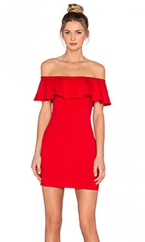 Платье hannah Susana Monaco. Цвет: красный