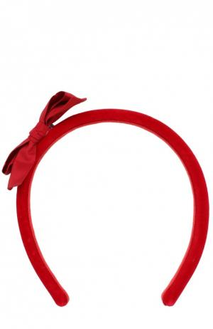 Ободок с бантом Aletta. Цвет: красный
