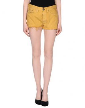 Джинсовые шорты SHIELD. Цвет: охра