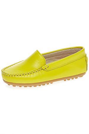 Мокасины TNY. Цвет: желтый