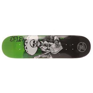Дека для скейтборда  Zfx Assy Guitar 31 x 8 (20.3 см) Z-Flex. Цвет: зеленый,белый,черный