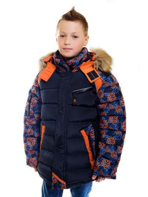 Куртка для мальчика Вихрь Пралеска. Цвет: оранжевый